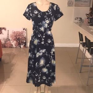 JACLYN SMITH Blue Print Dress